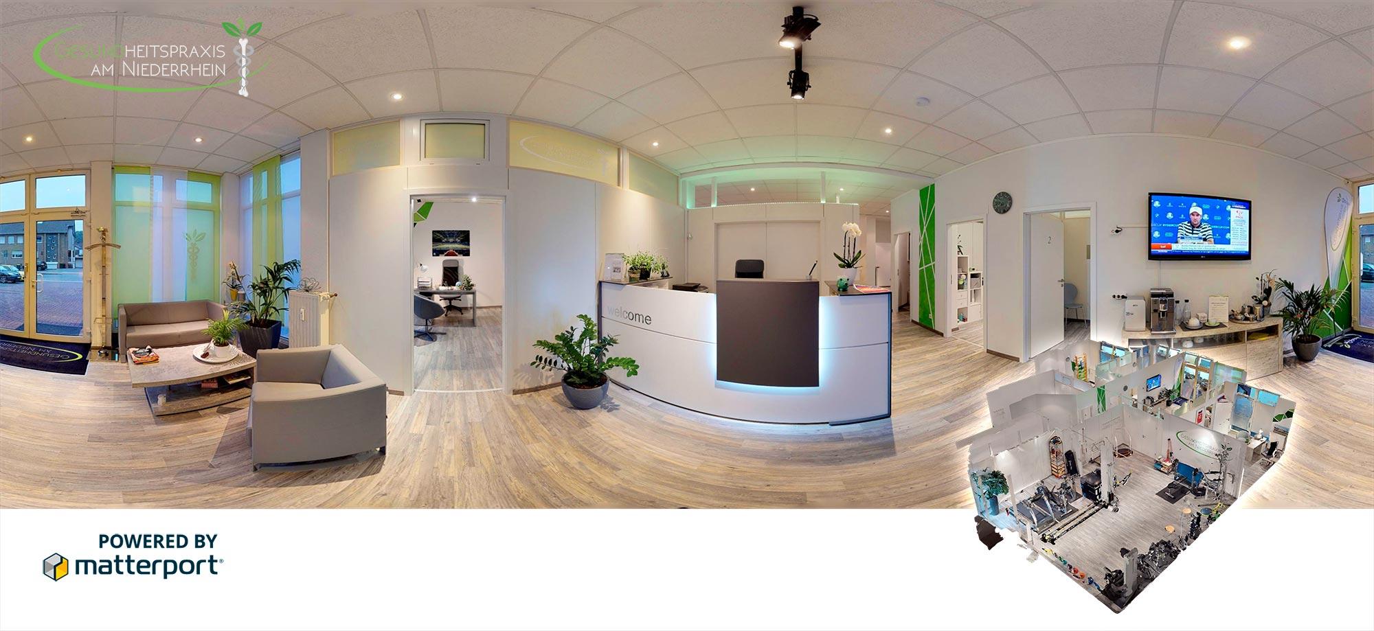 Matterport Header Gesundheitspraxis am Niederrhein