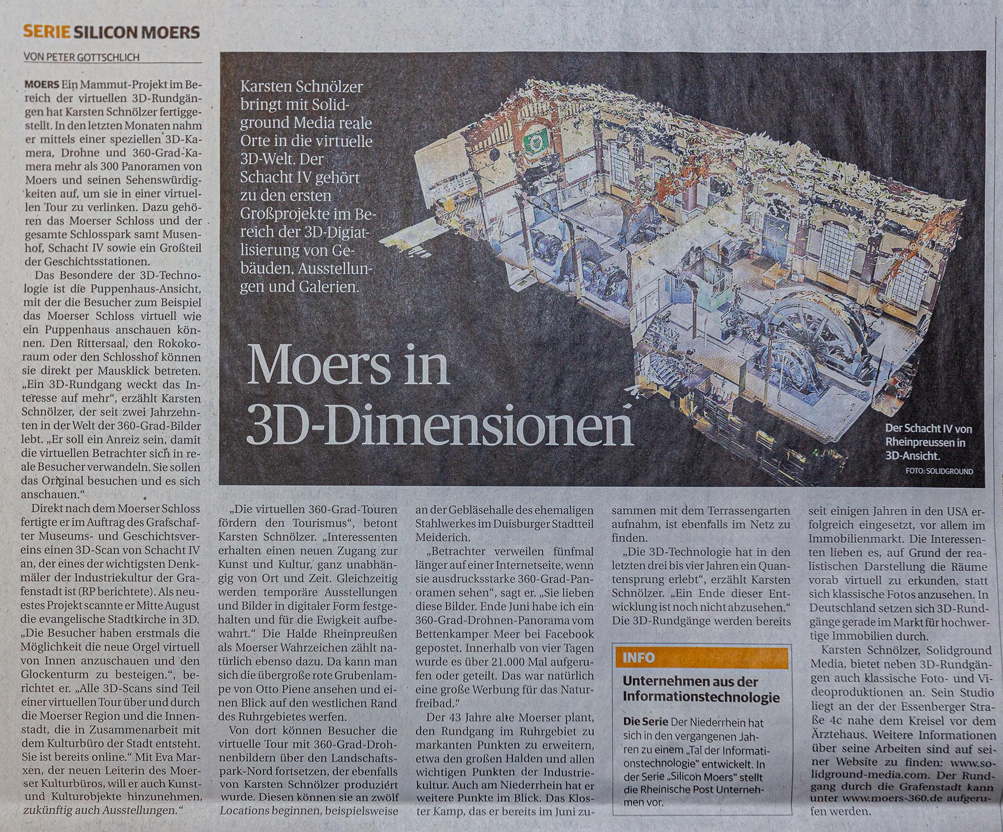 Rheinische Post Silicon Moers Artikel