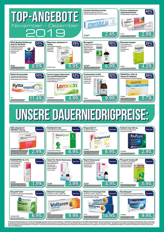 Residenz Apotheke Top-Produkte 201911-12
