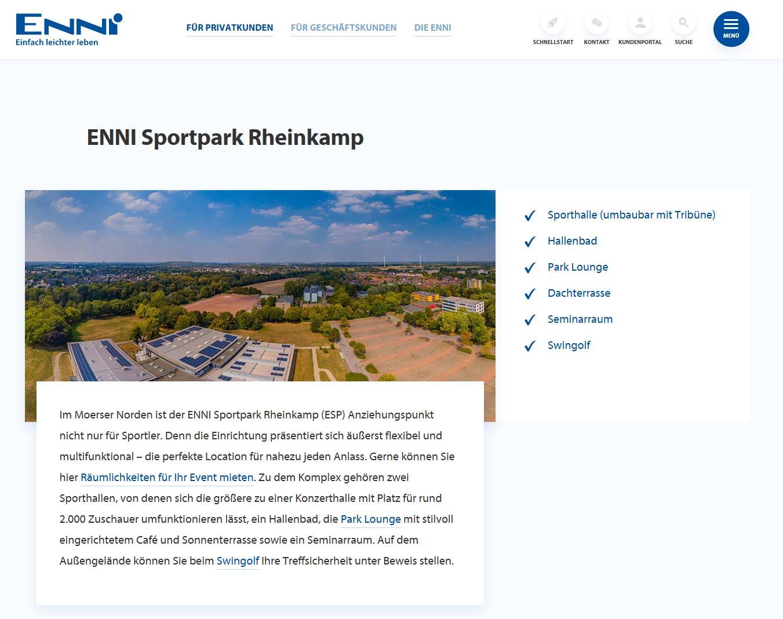 ENNI Luftbilder Sportzentrum Rheinkamp