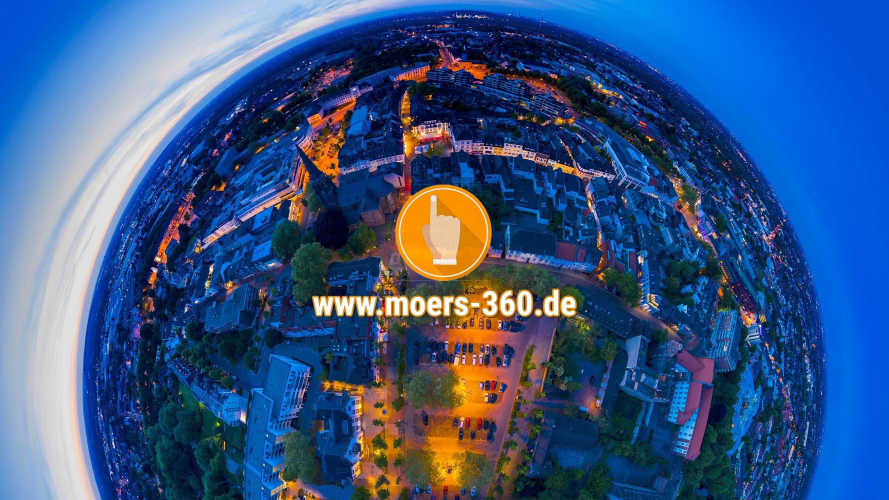 Die neue Weihnachtsbeleuchtung auf Moers-360.de